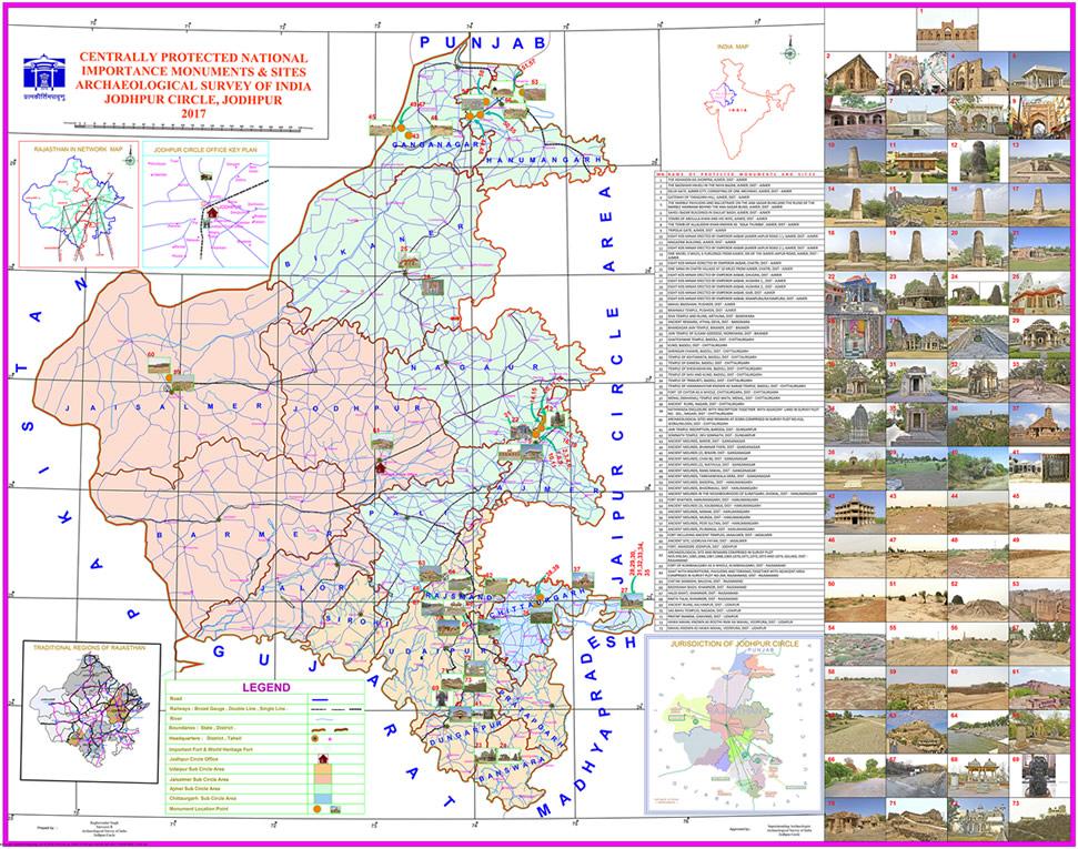 ASI Jodhpur Circle- MAP